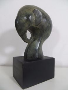 Abstract bronzen olifant