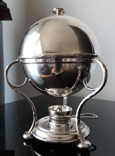 Egg coddler by Harrods in Empire style silver plated