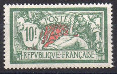France 1925-1926 – Merson 10f green and red – Yvert n° 207.