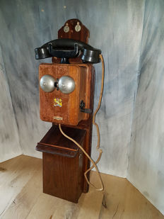 ATEA - Wall telephone with case - Belgium - 1940