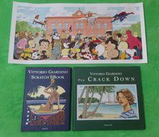 "Giardino, Vittorio - 2x volume ""Scratch Book"" and ""Crack Down"" + poster (2006-07)"