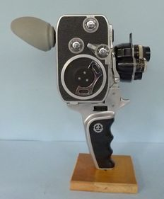 Swiss film camera Paillard B8 with special conversion lens from 1953