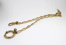 Pocket watch chateleine chain in 18 kt gold - 15.9 g