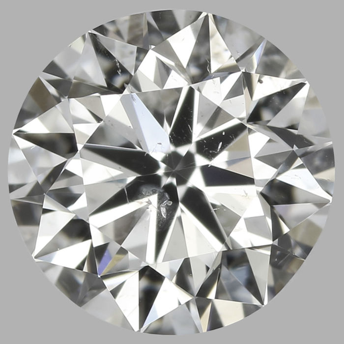 0.70ct Round Brilliant Diamond I SI1 IGI- Original image 10EX#2017