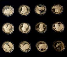 USA – collection of 12 medals – Liberty by Gasparro – silver