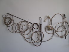 Gut rope and 4 leather and pelotas whips and crops - South America, North Africa - ca. 1960