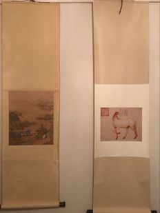 Two scrolls – China – late 20th century