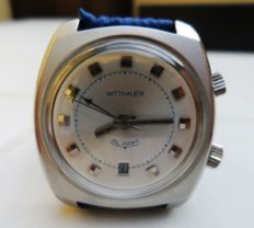 WITTNAUER Alarm Data. Men's wristwatch. 1960s/70s.
