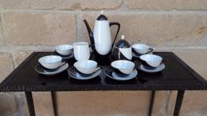 Imre Schrammel Holohaza black and white (penguin) coffee set