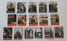 German Reich 1935-1945 WHW 16 small booklets  winter relief organisation Führer fight in the East, etc. war relief Red Cross