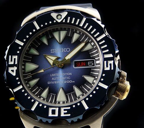 aaf76a9d9 SEIKO Limited Edition 200m Blue MONSTER SRP461 Automatic 4R36 diver