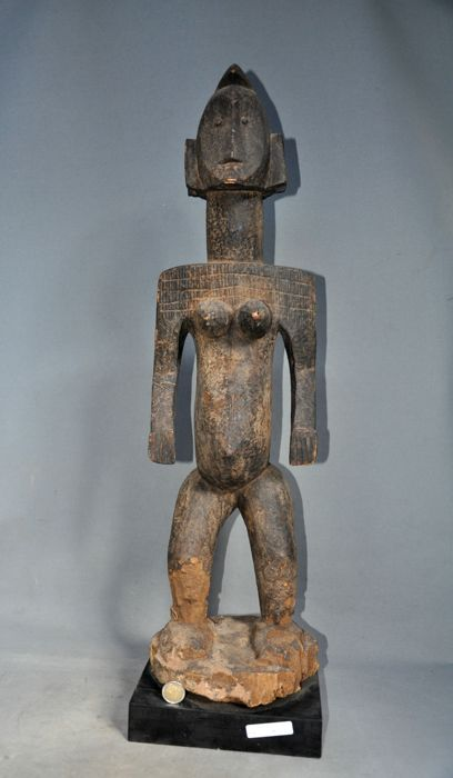 Very large female ancestor statue-BAMBARA-Mali