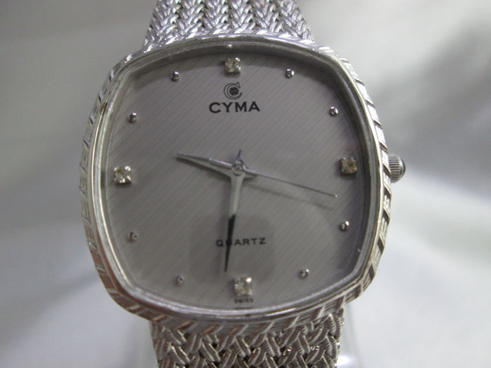 Cyma 'Le Locle' model 504, woven stainless steel men's wrist watch c.1970/80s'