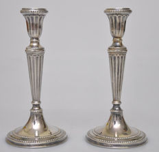 Set of silver candle stands, Germany