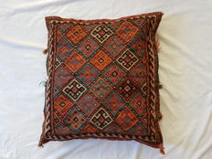 Antique handmade sumac kilim cushion, approx. 60 x 65 cm