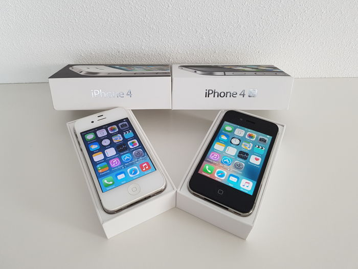 Apple Iphone 4 White 8GB AND 4s Black Both Complete In Original Box