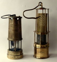 Miner's lamps - 2 pieces - Wales and Germany