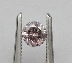 0.40 ct GIA Fancy Pink-Purple Diamond