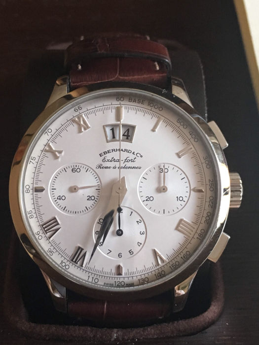 3d77d93bc72 Eberhard   Co. Chrono Extra Fort Roue a Colonnes - Catawiki
