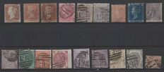 Great Britain, 1840-1870 - Unificato no. 3, 10, 14, 18, 19, 22, 25, 27, 29tav5, 29tav6, 31/34, 34A and 47/49