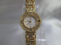 Enicar Watch Co. ladies gold plated & crystal Swiss quartz wristwatch – circa 1980s'