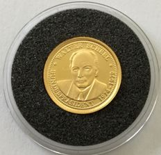 Germany – gold coin 'Walter Scheel' – 1 g gold