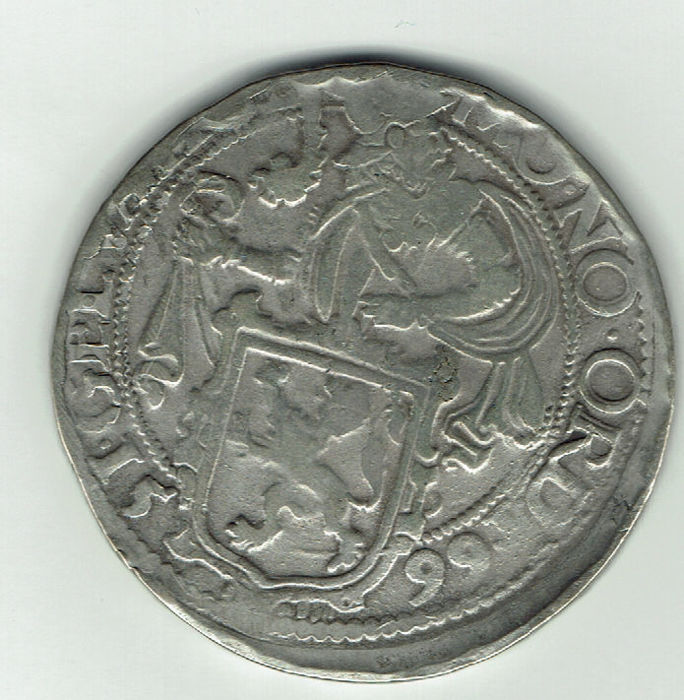 "Gelderland – ""Leeuwendaalder"" on currency base from Holland, 1599 – silver"