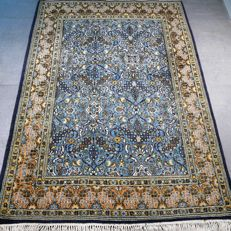 Fantastic semi antique Ghom Persian carpet - 158 x 112 - GREAT LOOK - with certificate
