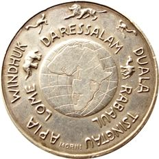 German Empire, Reichskolonialbund – silver medallion without year by J. Morin for the 50 year celebration of the acquisition of the German colonies