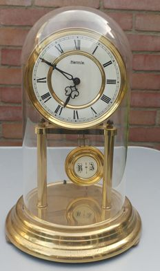 Hermle table/jar clock with striking mechanism, 1970s, West Germany