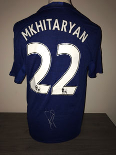 Henrik Mkhitaryan Manchester United away shirt 16-17 with photo evidence and certificate of authenticity