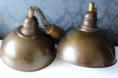 Two vintage bar lamps/hanging lamps, mid 20th century, The Netherlands