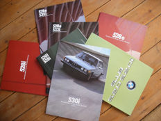 Lot of BMW 5 Series USA Brochures 1975-1983. 8 different brochures.