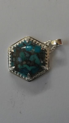 Authentic Massive 7.36ct Egyptian Turquoise Pendant