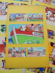 McNeill, Hugh - 5x Original page in colour - Paddy Paws the Puppy - [1966 / 1967]