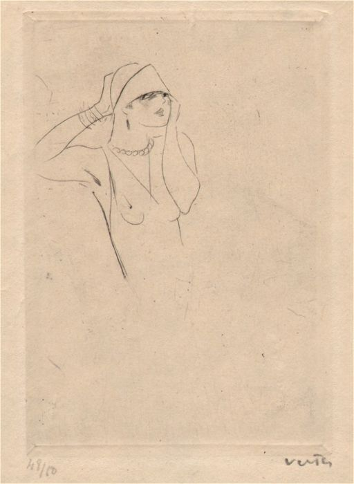 Marcel Vertès (1895 - 1961) - Etching proof - Unfinished state - Limited edition 48/50 -  Circa 1925