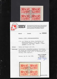 Switzerland, 1913-1938 – collection of blocks of 4 and units