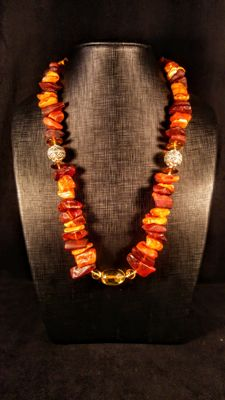 100% Natural Baltic Amber necklace, length 70 cm, 142 grams