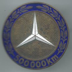 Very Rare Mercedes 500,000 Kilometres Engine without Breakdown Car Badge Plaquette