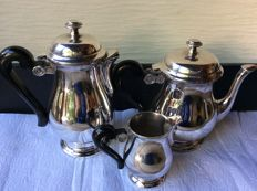 Heavily silver plated coffee-tea-creamer, first half 20th century