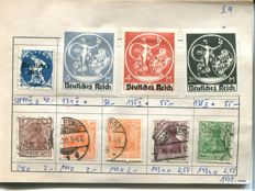 German Reich 1916/1923 – selection inspected stamps in circular booklet
