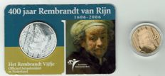 The Netherlands – 10 Euros Rembrandt gold in capsule + 5 euros Rembrandt – 2006 – silver