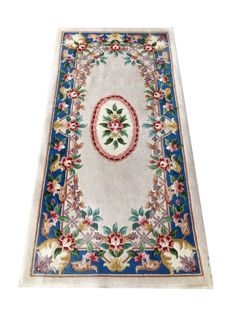 Beautiful oriental rug from China: Kangxi Aubusson 140 x 70 cm