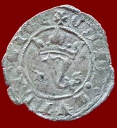 Spain – Juan I, Blanca of Billon, Agnus Dei, Burgos – 22 mm / 1.1 gr