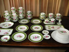 Coffee/tea set Hutschenreuther with Pierre-Joseph Redouté roses decor