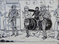Brugman, Gideon - Original page (p.20) - Patty en The Big Silver Bull Band - (1972)