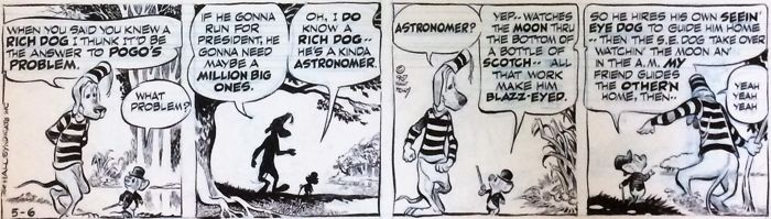 Original Comic Strip Art By Walt Kelly - Pogo - (1967)