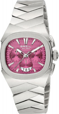 BREIL MILANO Eros Chrono ladies' watch in cherry red, NEW