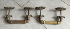 Two wonderful old Venetian bronze door handles