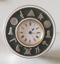 37.  Drum watch – freemasons – Switzerland circa 1920